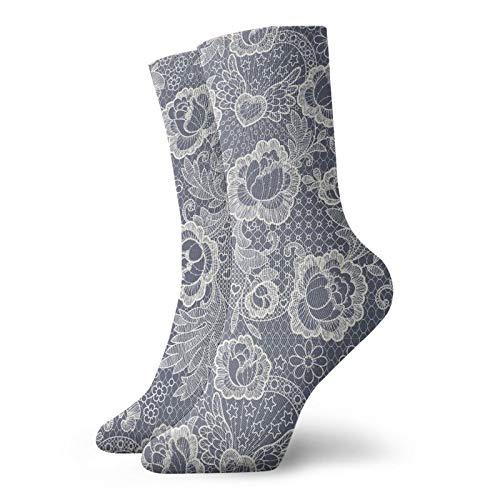 LLeaf Calcetines deportivos largos para hombre, rosas con calcetines de compresión para hombre