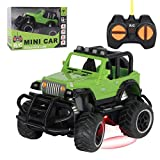 Remote Control Car for 3+ Kids, 1:43 Mini RC Car Toddler Learning Toy Indoor and Outdoor RC Off-Road Car, Christmas and New Year Birthday Gifts for Boys and Girls(Green)