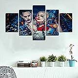 CGHBDOP Pintura de la película de Harley Quinn de 5 Piezas