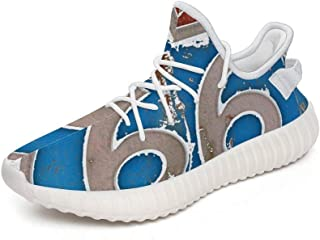 Route 66 Vacation Highway Road a Pair of Trainers You Don't Want to take Off.They are Lightweight, Shockproof and Flexible TPU Shoes That are Comfortable, Athletic and Breathable.(Custom Graffiti)