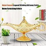 Genielampe Aladdins Lampe Oil Lampe Teekanne, Retro Alladin Lampe, 11 x 21 cm Wunderlampe Aladdin - 4