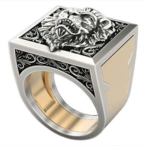 Silver Lion King Necklace Lion Head Stainless Steel Ring The Secret Lion Ring (11)