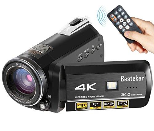 Besteker Ultra HD Wifi Night Vision Camcorder