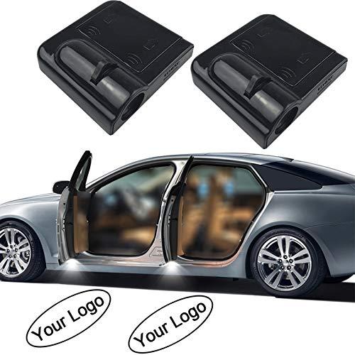 Fangfei 2x Custom Logo Wireless LED Projector Car Door Step Courtesy Welcome Lights