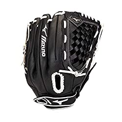 in budget affordable Mizuno GPS L1250F3 Prospect Select Series Fastpitch Softball Gloves 12.5 inch Right Throw, Black