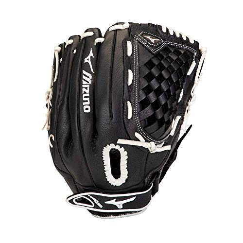 Mizuno GPSL1250F3 Prospect Select Series Fastpitch Softball Glove 12.5', Right Hand Throw, BLACK