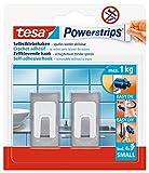Tesa 57997-00000-02 - Ganchos autoadhesivos (acero inoxidable, 2 unidades), diseño rectangular