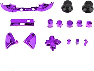 Dolity Bumper Trigger Buttons D-Pad LB RB LT RT Mod Kit Replacement For Xbox One Slim Controller Chrome Purple