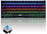 RGB Wired Mechanical Keyboard,Ajazz AK33 82 Keys Compact Computer Gaming Keyboard with 20 LED Backlit Modes Blue Equivalent Switches for Windows PC Gamers(RGB Blue Switch)