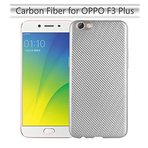 Forhouse Phone Hülle für Oppo F3 Plus Hülle Backcase Durable Back Bumper Cover [ Silver ]