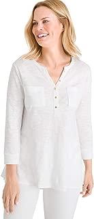 Women's Cotton Slub Henley Top