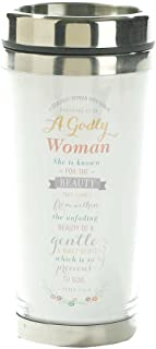 A Godly Woman Proverbs 11:16 White 16 Oz. Stainless Steel Insulated Travel Mug with Lid
