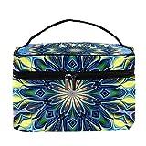 Hippie Mandalas - Bolsa de maquillaje grande para viaje, bolsa de maquillaje, organizador con cremallera, para mujeres y niñas