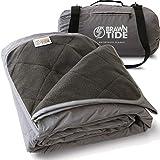 Brawntide Large Outdoor Waterproof Blanket - Great Beach Blanket, Stadium Blanket, Camping Blanket, Extra Thick Fleece, Warm,...