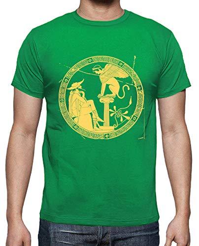 latostadora - Camiseta Grecia 2 para Hombre Verde Pradera L