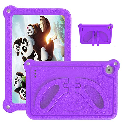 2019 Tablet 7 Case for Kids- SHREBORN Non-Slip/Shockproof/Ultra Light Kids Friendly Tablets Cover with Stand for 7 inch Tablet(2019 & 2017 &2015)- Purple