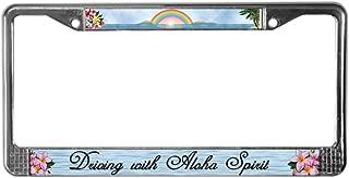 CafePress License Plate Frame Aloha Spirit Chrome License Plate Frame, License Tag Holder