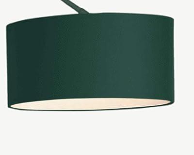 Modernluci Lampadaire moderne arqué pour le salon, la chambre à coucher - Couleur : vert - Style scandinave - Avec abat-jour en tissu - Diamètre : 40 cm - Hauteur : 205 cm +/- 10 cm (vert)