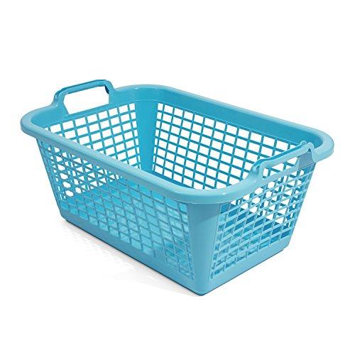 20L Wäschekorb Wäschebox von OKT blau Kunststoff Tragegriffe Sammelkorb Wäschesammler