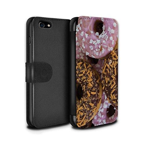 Stuff4 PU lederen hoesje/portemonnee/IP-PSW/smakelijke donuts collectie Apple iPhone SE 2020 Chocolade/Roze