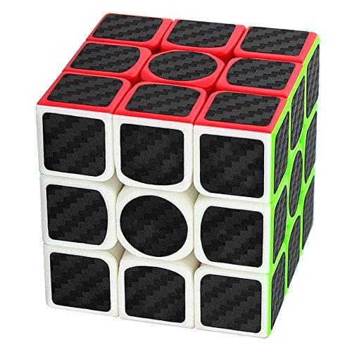 Coolzon Zauberwürfel 3x3x3 Speed Cube Würfel Carbon Faser Aufkleber Neue Geschwindigkeits Super Schnell und Glatt