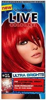 シュワルツコフライブカラーXxl超輝92ピラーボックス赤半永久的な赤い髪の染料 (Schwarzkopf) (x2) - Schwarzkopf LIVE Color XXL Ultra Brights 92 Pillar Box Red Semi-Permanent Red Hair Dye (Pack of 2) [並行輸入品]