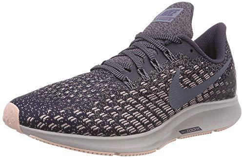Nike WmnsAir Zoom Pegasus 35, Zapatillas de Running Mujer, Morado (Gridiron/Light Carbon-Storm Pink 006), 39 EU