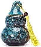 WWZZ Adulto Funeraria Urna Cerámica A Prueba de Humedad Hecho Artesanal Cremation Urns por una pequeña cantidad Cenizas humanas Cinco Colores Caballo Creativo