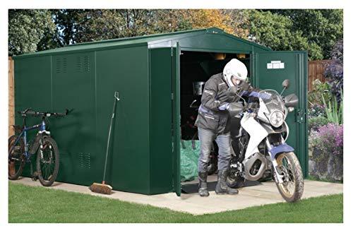 Asgard 10x7 Gladiator Motorbike Plus Apex Shed Brown