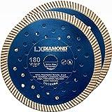 LXDIAMOND 2 dischi da taglio diamantati di alta qualità, 180 mm x 22,23 mm, per mattoni, muratura, per fresatrice diamantata, per muratura, fresatrice a parete, disco diamantato da 180 mm