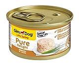 GimDog Pure Delight, pollo – Snack rico en proteínas en deliciosa gelatina – Especial para perros de hasta 10 kg – Sin azúcar añadido – 12 latas (12 x 85 g)
