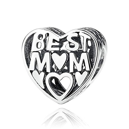 DJC Abalorio de Plata con Forma de corazón de Best Mum
