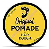 Hair Dough Pomade, Medium Hold and Semi-Matte Shine Styling Product for Men, Water Based/Soluble and Lightly Scented for Straight, Thick, Curly, and Wavy Hair, 3.5oz (Original)