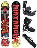 Airtracks Snow board completo set/Board Red Smile Wide Hybrid Rocker + Attacchi Snowboard Star + Snow board Boots + SB Bag/156159162cm
