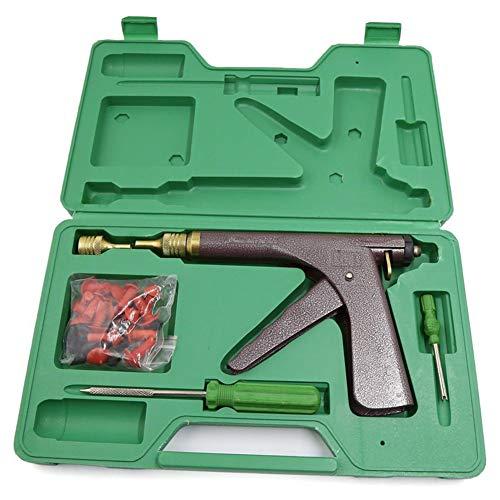 WPFC Trigger-Stil Griff Reifen-Reparatur-Gun, Tubeless-Reifen-Rad-Reparatur-Gun Set Reifen Stopfer Tubeless, Auto-Reifen-Reparatur-Werkzeug-Set Mit Pilz-Stecker