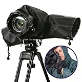 Ousuga Camera Cover Waterproof Raincoat Protector Case Bag Transparent Window for Canon or Nikon Dslr Suitable for Rain  Desert and Seashore Snowing etc.