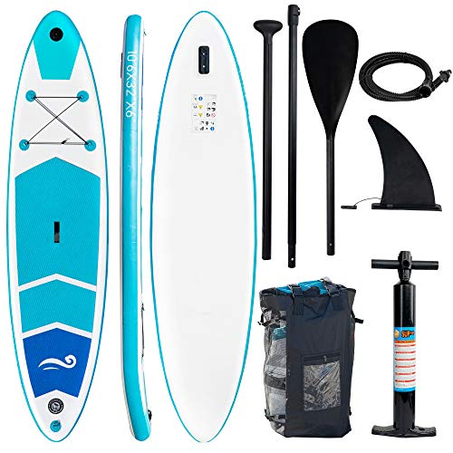 FUNPENY Inflatable Stand Up Paddle Board, Paddle Board for Adults and Youth,with SUP Accessories Include Carry Bag, Wide Paddle Board for Yoga Board
