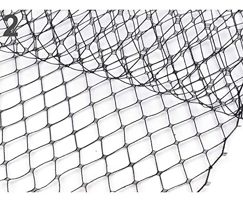 1m Black French Birdcage Veil Fabric Width 24cm,...