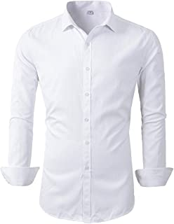 Beninos Mens Long Sleeve Slim Fit Dress Shirts