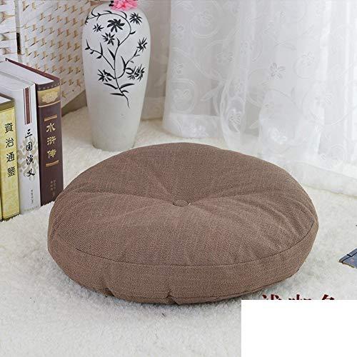 YLCJ kussen voor Futon in Lino, kussen voor stoel van dikke stof, rond, voor balkon, tatami in tatami tapijt, voor ramen, diameter 50 cm, diameter 20 cm