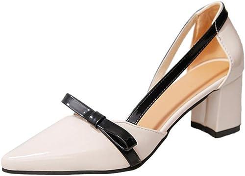 Sandales d'été pointées Les dames sac arc sandales chaussures femmes , meters blanc , US8   EU39   UK6   CN39