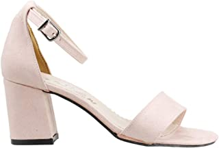 Ceylan Bsm 62 Günlük 7 Cm Topuk Bayan Nubuk Sandalet Ayakkabı Pudra
