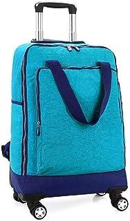 NSHUN Trolley Backpack, Shoulder Bag, Outdoor Suitcase, Travel Shoulder Strap, with Universal Wheel, Blue