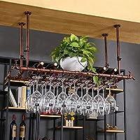 家の装飾ワインラック創造的なワインラックはガラス製品スタンドを掛けます(サイズ:100 * 30cm)
