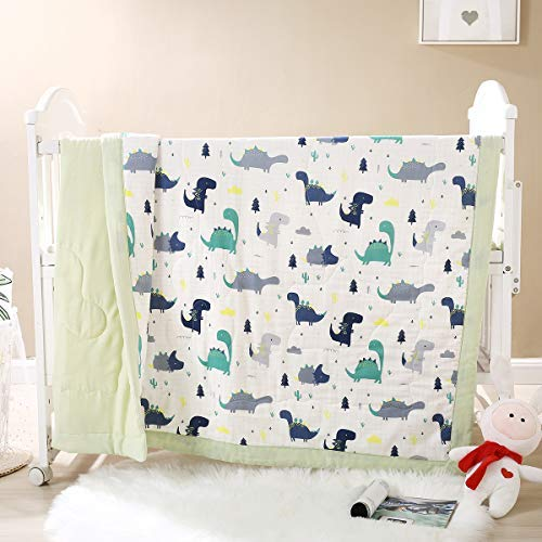 Lanqinglv ® Babydecke 120 x 150 cm Kuscheldecke 100% Baumwolle Premium Perfekt für Mädchen/Junge Steppdecke Baby Kuschelige Tagesdecke Kinderzimmer
