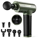 Massage Gun, TaoTronics Portable Deep Tissue Percussion Massager with 6 Heads and 20 Adjustable...