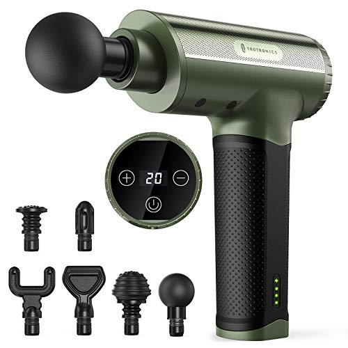 TaoTronics TT-PCA004 20-Speed Percussion Massage Gun w/ 6 Massage Heads  $70 at Amazon
