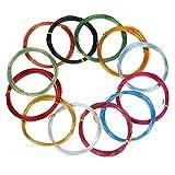 Alambre de Aluminio Multicolor Alambre de Metal Flexible para Fabricación de Bisutería y Manualidades Varias, 1 mm de Diámetro, Cada Rollo 32,8 Pies de Largo (12 Rollos)