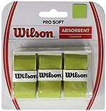 Wilson Pro Soft Overgrip Empuñadura, 3 unidades, unisex, verde