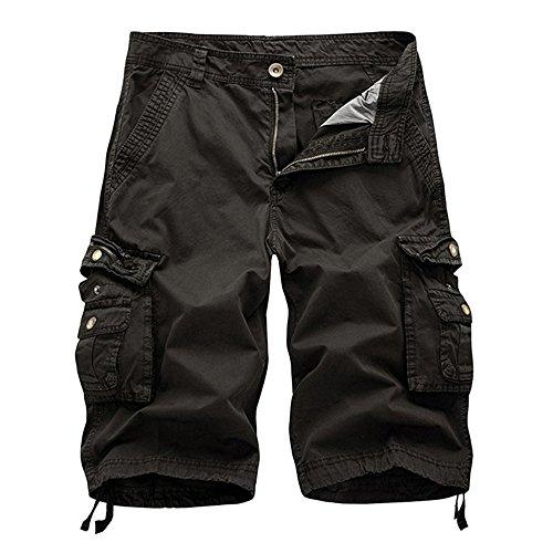 FRAUIT Bermuda Uomo Tasconi Lavoro Cotone Pantaloncini Uomini Cargo Larghi Pantaloni Ragazzo Corti con Tasche Laterali Pantaloncino Corto Shorts Pantalone da Nuoto